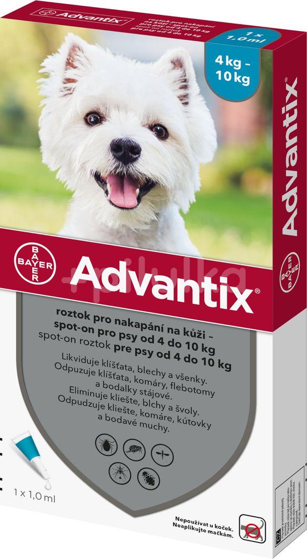 Advantix pro psy spot-on od 4-10kg 1ml
