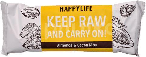 HAPPYBAR - mandlová tyčinka s kakaovými boby bio & raw 50g