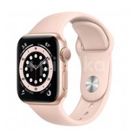 Apple Watch S6 GPS, 40mm Gold Aluminium Case, Pink Sand Sport Band, Regular 1ks