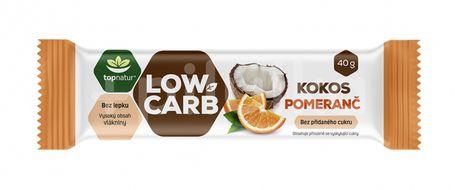 Topnatur Tyčinka Low carb kokos pomeranč 40g