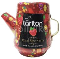 TARLTON Tea Pot Royal Strawberry Black Tea plech 100g