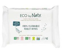 Eco by Naty Vlhčené splachovatelné ubrousky bez vůně 42ks