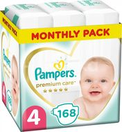 Pampers Premium Care S4 168ks, 9-14kg