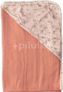 Mušelínový ručník s kapucí bambus Bébé-Jou Fabulous Wish Pink