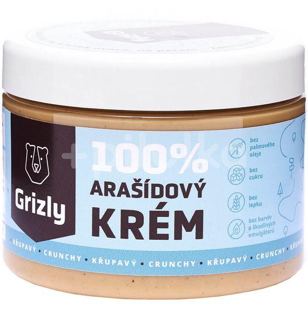 GRIZLY 100% Arašídové máslo křupavé 500g