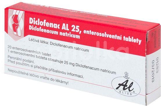 Diclofenac AL 25 tablety potažené 20x25mg