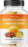 MOVit Vitamin C 1200 mg s šípky + Vitamin D + Zinek PREMIUM 90 tablet