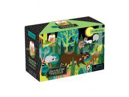 Mudpuppy Svíticí puzzle, V lese 100ks