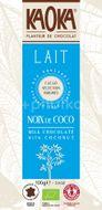 Kaoka Bio mléčná čokoláda s kokosem 100g