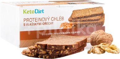 KetoDiet Proteinový chléb s vlašskými ořechy 7 porcí