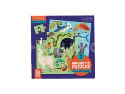 Mudpuppy Magnetické puzzle, Zvířata 2x20ks