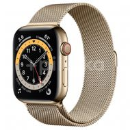 Apple Watch S6 GPS + Cellular, 44mm Gold Stainless Steel Case, Gold Milanese Loop 1ks