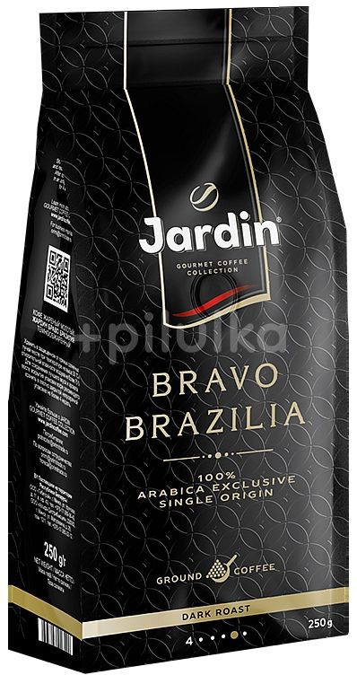 JARDIN Arabika Bravo Brazilia mletá 250g