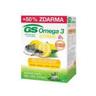 GS Omega 3 Citrus+D3 60+30 kapslí