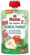 Holle Bio pyré- Power Parrot - Hruška s jablkem a špenátem 100g