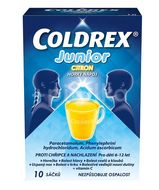 Coldrex Junior Horký nápoj Citron 10 sáčků