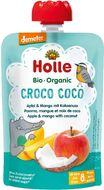 Holle Croco Coco Bio ovocné pyré jablko mango, kokos