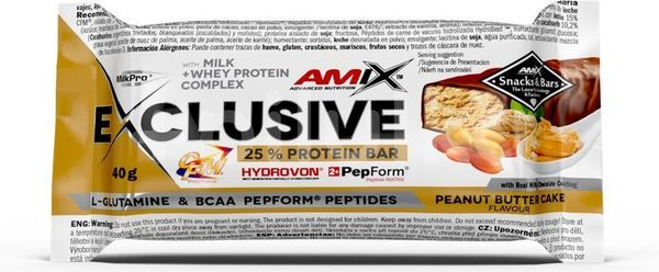 AMIX Exclusive Protein Bar, Peanut-Butter-Cake, 40g