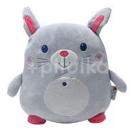 InnoGIO Plyšový polštářek malý Rabbit Grey/Pink