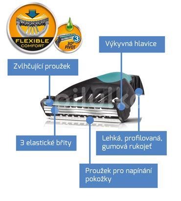 Wilkinson Sword Xtreme3 Sensitive Comfort - jednorázový holicí strojek (3+1ks)