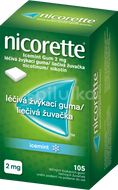 Nicorette Icemint Gum 2mg léčivá žvýkací guma 105ks