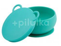 Minikoioi Miska silikonová s přísavkou - Green