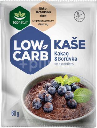 Topnatur Low Carb Kaše kakao & borůvka 25x60g