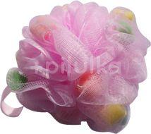 Gabriella Salvete Masážní mycí houba s molitánky Růžová 1ks