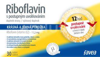 Favea Riboflavin Tablety s postupným uvolňováním 30 tablet