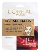 L´Oréal Paris Age Specialist 45+ zpevňující textilní maska