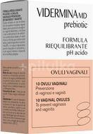 Vidermina MD Prebiotic vaginální čípky 10ks á 3g