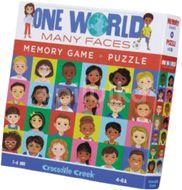 Crocodile Creek Puzzle a paměťová hra - Tváře světa