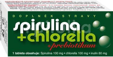 Naturvita Spirulina + Chlorella + Prebiotikum 90 tablet