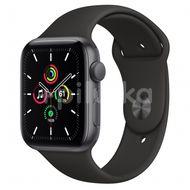 Apple Watch SE GPS, 44mm Space Gray Aluminium Case, Black Sport Band, Regular 1ks