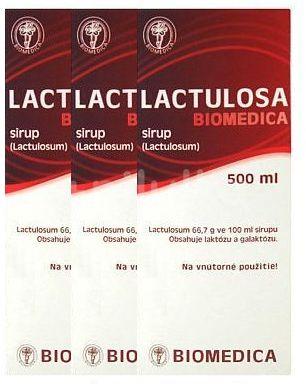 Lactulosa Biomedica perorální sirup 3 x 500ml 50 %