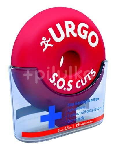 URGO SOS CUTS Samolepící obinadlo 3m x 2,5cm