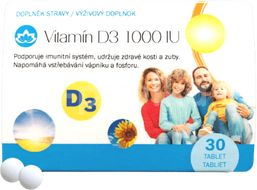 Novax Naturpharma Vitamín D3 30tablet