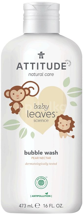 Attitude Dětská pěna do koupele Baby leaves s vůní hruškové šťávy 473ml