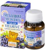 Müllerovi medvídci s vitamín C s příchutí černý rybíz 45 tablet
