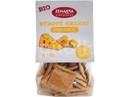 Biopekárna Zemanka BIO Sýrové krekry se špaldou a slunečnicí 100g