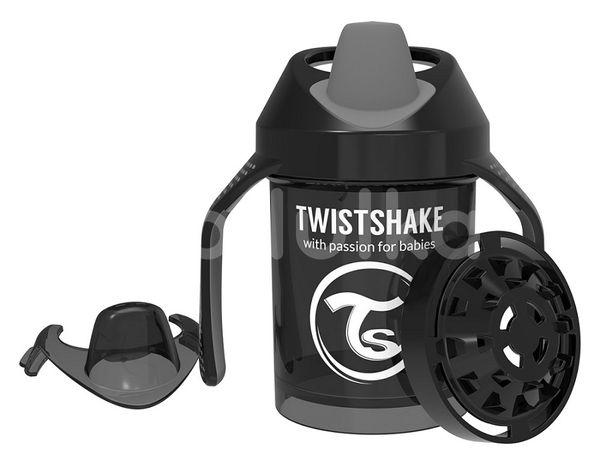 Twistshake učící netekoucí hrnek černý 230ml
