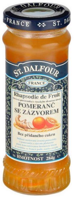 St.Dalfour Džem ovocný pomeranč a zázvor 284g