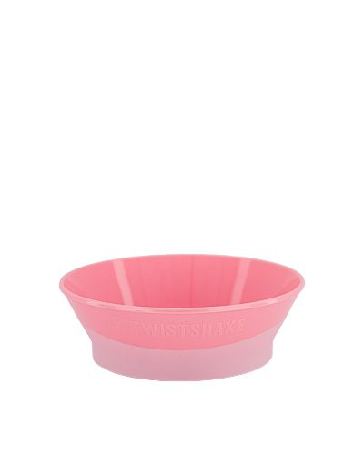 Twistshake miska 6+m pastelově růžová