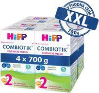 HiPP 2 BIO Combiotik mléko 4x700g