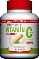 BIO-Pharma Vitamín C 500mg long effect 60+60 kapslí