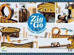 Djeco Dřevěná dráha Zig Go 45 dílků