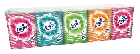 Papírové kapesníky LINTEO mini 3-vrstvé bílé 10ks