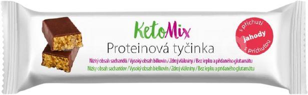 KetoMix proteinové tyčinky s příchutí jahody 40g