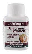 MedPharma Beta karoten 25000m.j. s Panthenolem + PABA 37 tobolek