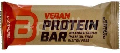 BioTechUSA Vegan Protein Bar arašídové máslo 50g